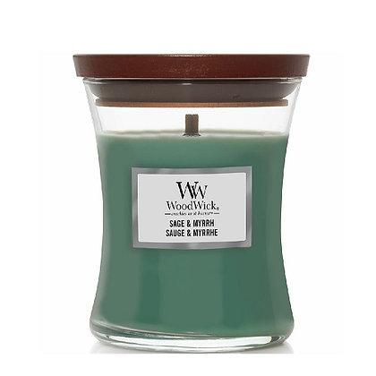 Woodwick Medium Candle - Sage & Myrrh