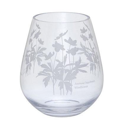 Dartington Crystal Bloom Windflower Wide Vase