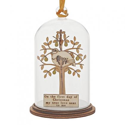 Kloche Hanging Ornament - Partridge in a Pear Tree