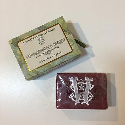 Saltworks Large Bar Soap - Pomegrante and Amber