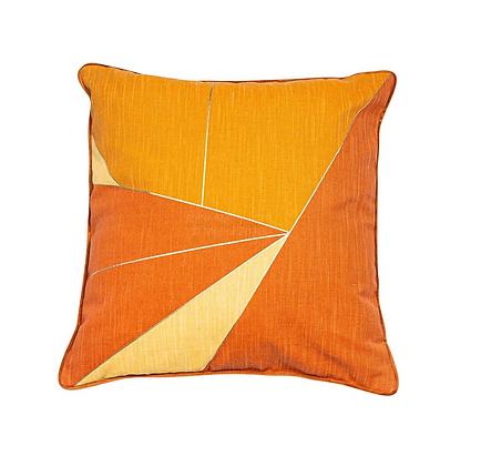 Malini Shatter Feather Cushion - Orange