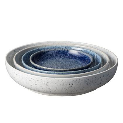 Denby Studio Blue Nesting Bowl Set x4