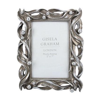 Gisela Graham 5x7 Silver Wave Photo Frame