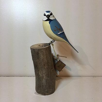 Archipelago Blue Tit Wooden Sculpture