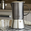 Thumbnail: La Cafetiere Edited 4 Cup Stainless Steel Stovetop - Gun Metal Grey