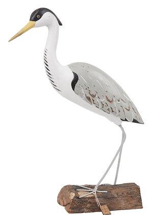 Archipelago Heron Fishing Wooden Sculpture