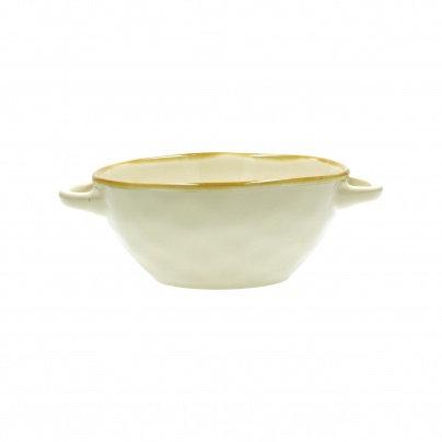 Rose & Tulipani Concerto Handled Soup Bowl - Ivory