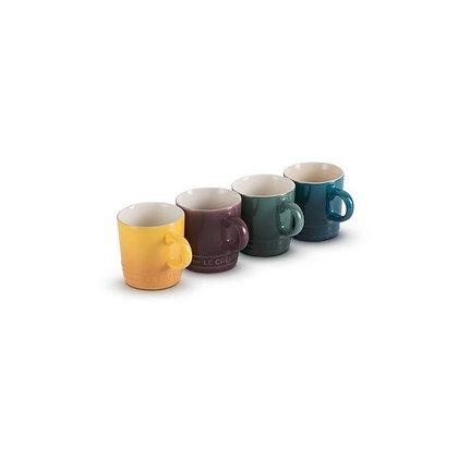 Le Creuset Stoneware Botanique Set of 4 Espresso Mugs