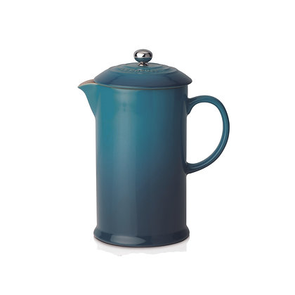 Le Creuset Stoneware Coffee Pot and Press - Deep Teal