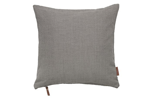 Feather Filled Hand Woven Cotton Cushion - Mud