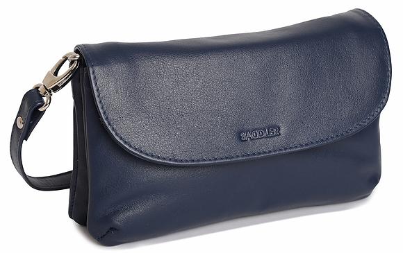 Saddler Audrey Leather Cross Body Bag - Peacoat Blue