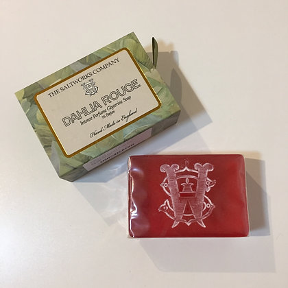 Saltworks Large Bar Soap - Dahlia Rouge