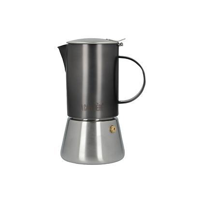 La Cafetiere Edited 4 Cup Stainless Steel Stovetop - Gun Metal Grey