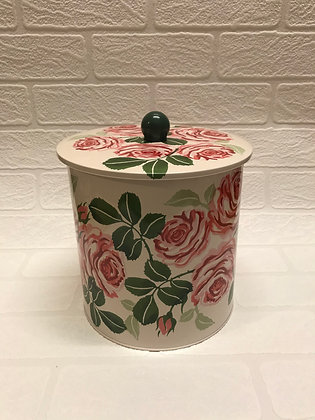"Elite Tins Emma Bridgewater ""Pink Roses"" Biscuit Barrel"