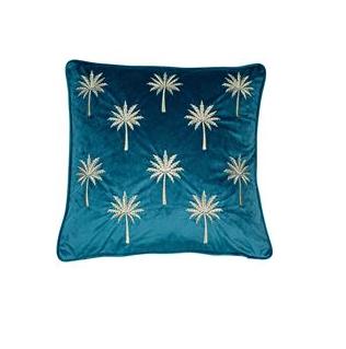 Malini Miami Feather Cushion - Teal