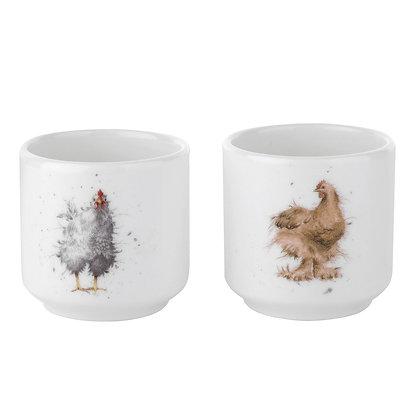 Royal Worcester Wrendale Egg Cups Set of 2