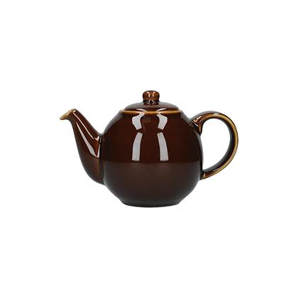 London Pottery 2 Cup Globe Teapot - Rockingham Brown