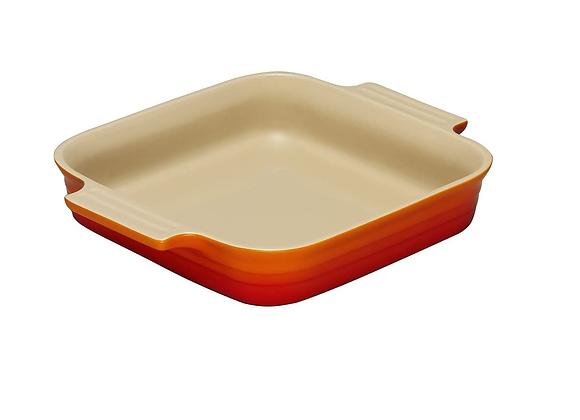 Le Creuset 23cm Stoneware Square Dish - Volcanic