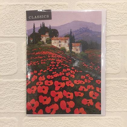 Greetings Card - Tuscan Hillside
