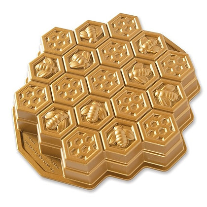 Nordic Ware Gold Bee & Honeycomb Pull-Apart Cake Pan