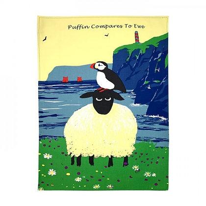 Thomas Joseph Tea Towel - Puffin Compares To You