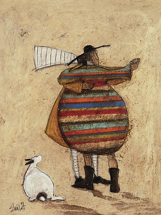 Canvas Art - Sam Toft 'Dancing Cheek to Cheeky'