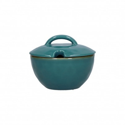 Rose & Tulipani Concerto 11cm Bowl with Lid - Teal