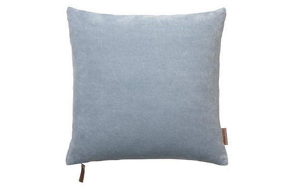 Feather Filled Velvet Cushion-Dusty Blue