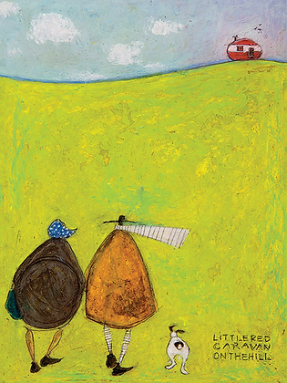 Canvas Art - Sam Toft 'Little Red Caravan on the Hill'