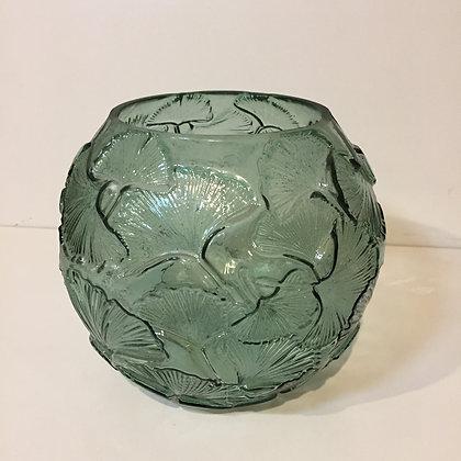 Green Ginkgo Globe Vase