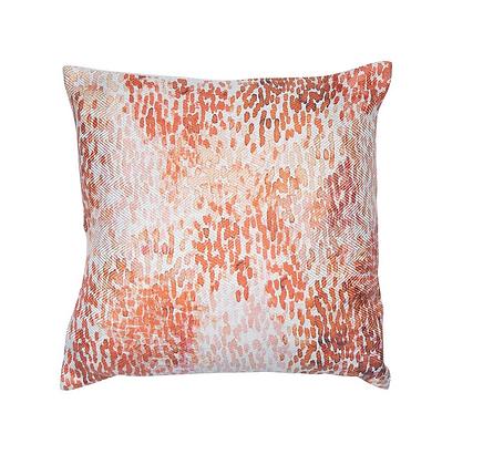 Malini Tanvi Feather Cushion - Orange