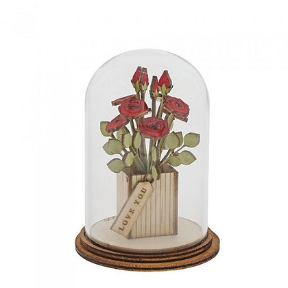Kloche Ornament - Love You Flowers