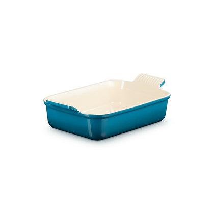 Le Creuset 25cm Stoneware Rectangular Dish - Deep Teal