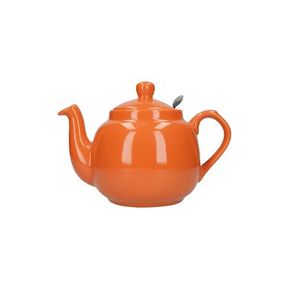 London Pottery 2 Cup Farmhouse Infuser Teapot - Orange