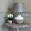 Thumbnail: Stoneware Table Lamp Cali With Grey Shade