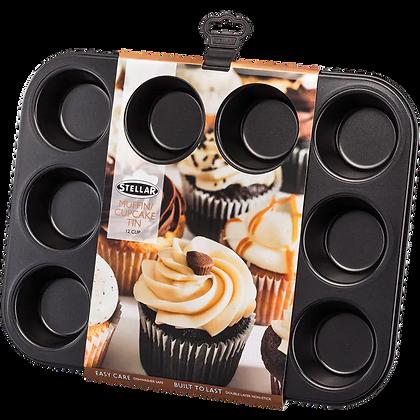 Stellar Bakeware Muffin/Cupcake Tin 12 Cup