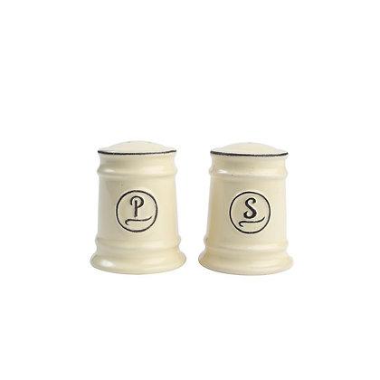 Pride of Place Salt and Pepper set, Cream