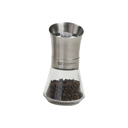 T&G Crush Grind Tip Top Pepper Mill - Stainless Steel