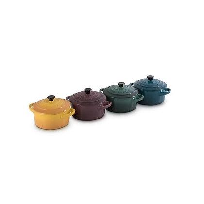 Le Creuset Stoneware Botanique Set of 4 Petite Casseroles