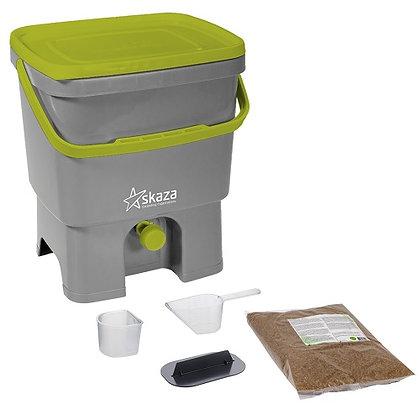 Eddingtons Organko Grey & Light Green Composter with Bran