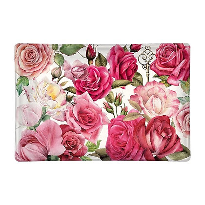 Michel Designs Glass Soap Dish - Royal Rose