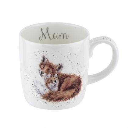 Royal Worcester Wrendale 'Mum' Foxes Large Fine Bone China Mug