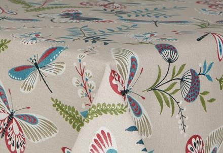 Prestons Mirha Collection Round Tablecloth - Butterflies
