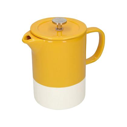 La Cafetière Barcelona 6 Cup Ceramic Cafetiere - Mustard