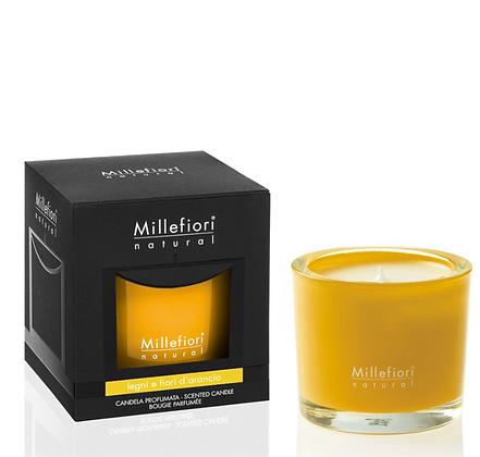 Millefiori Milano Natural 180gr Candle Legni e Fiori D'Arancio