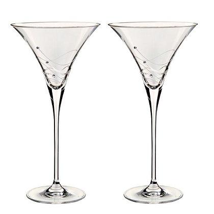 Dartington Glitz Martini Glass Pair