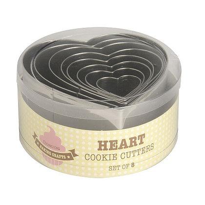 Eddingtons Heart Cookie Cutters Set of 8