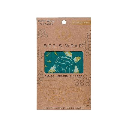Eddingtons Bees Wax Food Wrap Oceans Pack of 3