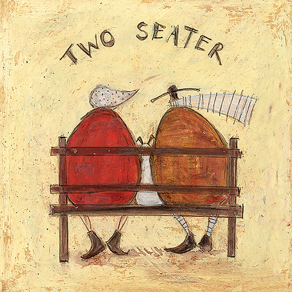 Canvas Art - Sam Toft 'Two Seater'