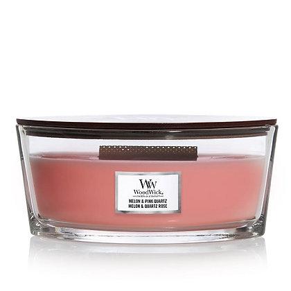 Woodwick Ellipse Candle - Melon & Pink Quartz